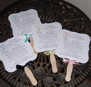 wedding fans jar wedding fan program deposit only