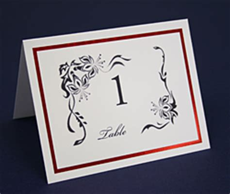 how to make table number cards computer printable table number cards how to make print
