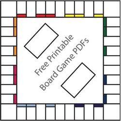 Empty Monopoly Board Template by 16 Free Printable Board Templates