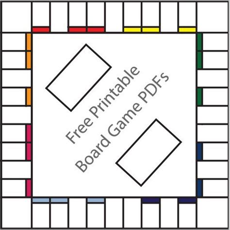 Printable Board Games Templates | 16 free printable board game templates