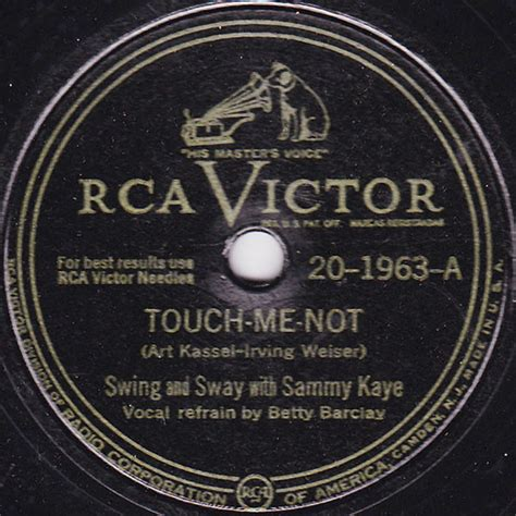 swing and sway with sammy kaye swing and sway with sammy kaye touch me not at discogs