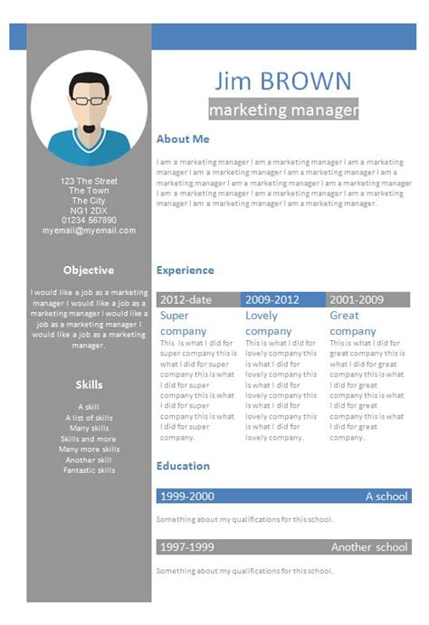 template cv profile creative cv template how to write a cv
