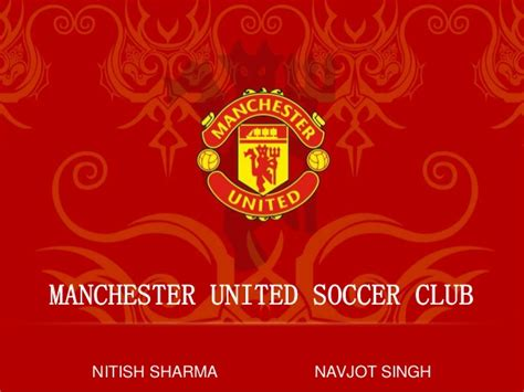 of manchester powerpoint template study manchester united soccer club