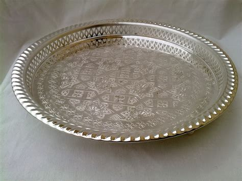 Handcrafted Silver - moro style handcrafted silver moroccan tray