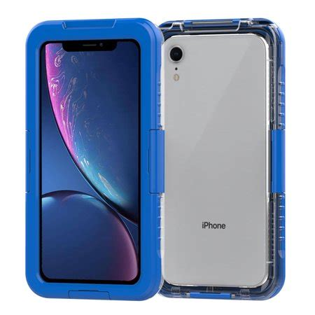 premium waterproof sealed for apple iphone xr with plastic screen cover for swimming