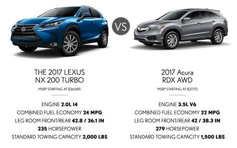 lexus suv vs acura suv new used car reviews 2018