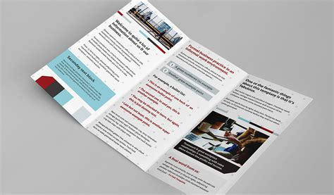 brochure layout inside free trifold brochure template for photoshop illustrator