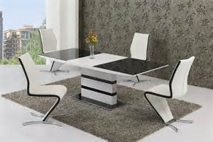 glass dining tables bontempi high large glass white high gloss extendable dining table and  chairs set
