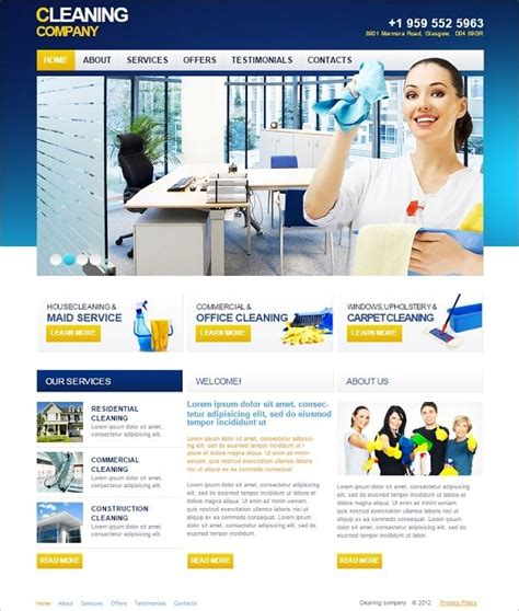 Cleaning Company Website Templates Sparkling Solution For Business Products Website Templates