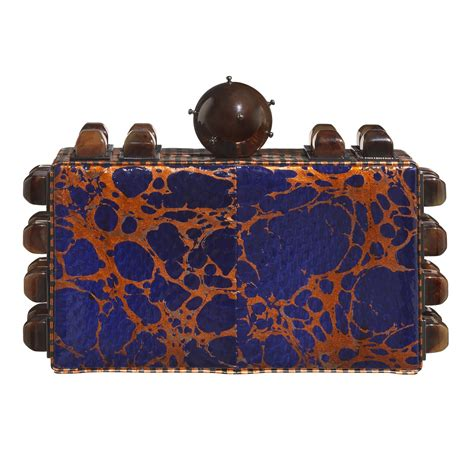 Mcclintocks Marbled Lucite Clutch The Bag by Tonya Hawkes Signature Marble Clutch In Blue Lyst