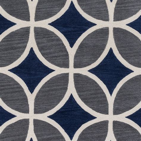 mackenzie rug in navy and gray by artistic weavers