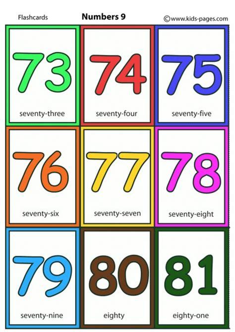 printable number flashcards 0 50 numbers 9 flashcard