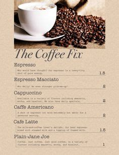 101 Canda Kopi the 101 coffee shop menu pg 1 coffee house