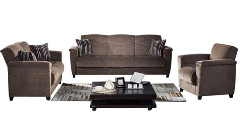 modern sofa set 3 2 1 seater in brown colour by planet