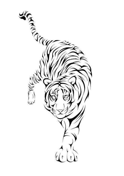 38 best tiger tattoo outlines images on pinterest