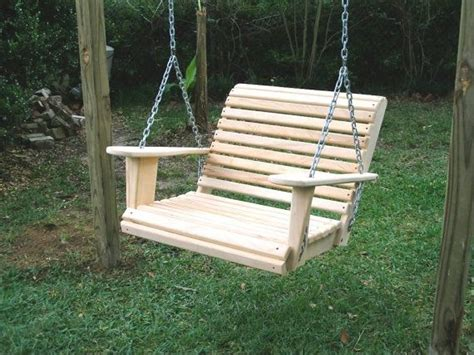 single seat porch swing single seater porch patio deck or yard swing