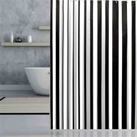 home brand curtains brand new peva bathroom curtain luxury white and black
