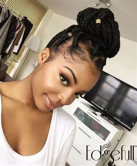 style braids to cover edges shop edgefull com have beautiful natural hair but thinning
