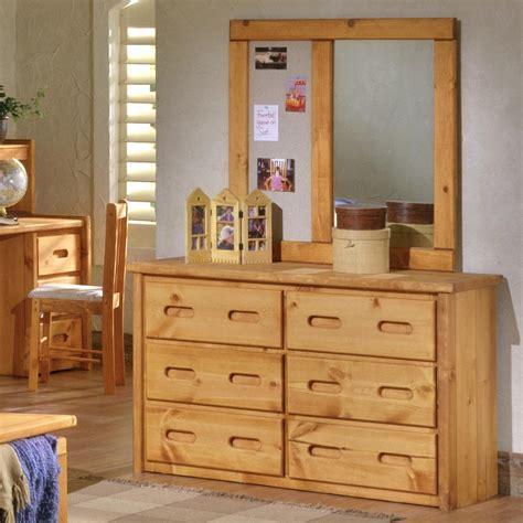 trendwood bunkhouse 6 drawer pine dresser with carved