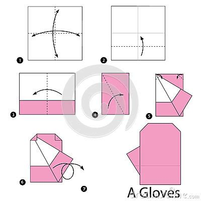 How To Make Paper Gloves - step by step how to make origami an gloves