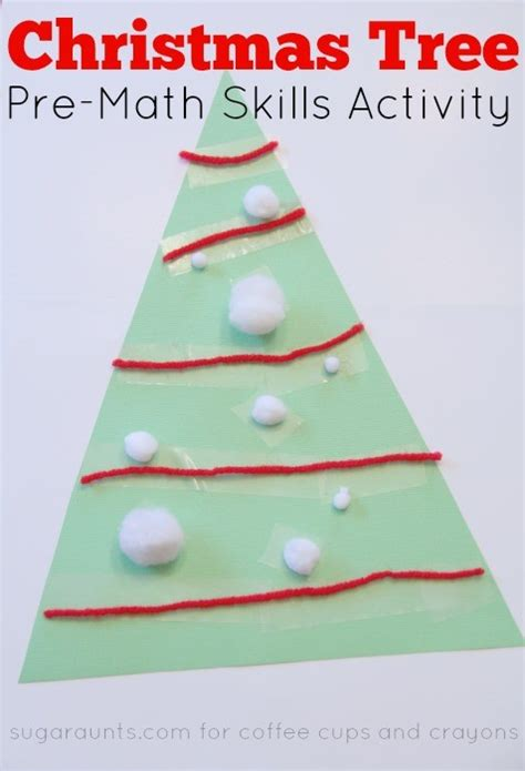 christmas tree math tree pre math activity coffee cups and crayons