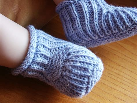 knitting pattern infant socks knitting patterns galore blue steps baby booties