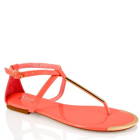 coral flat sandals womens fashion black coral patent flat buckle