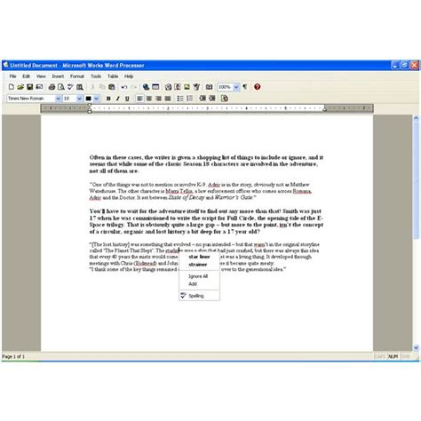 Microsoft Works Word Processor Screenplay Template Pegnue Microsoft Works Templates