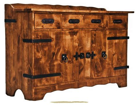 Kitchen Server Table Mango Wood Style Kitchen Decoration With Monterey Rustic Wooden Buffet Server Table