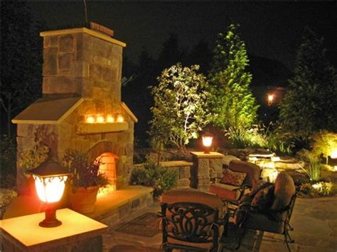 where to place landscape lighting 19 best images about outdoor fireplaces on pinterest