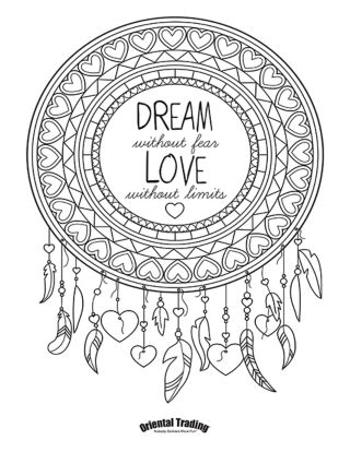 coloring pages for adults dreamcatchers welcome to oriental trading