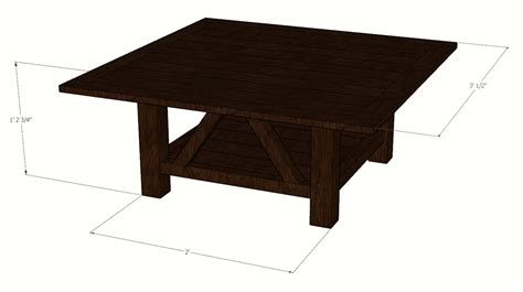 square coffee table plans square coffee table buildsomething
