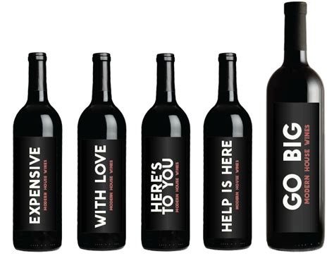 Modern House Wines by Coolest Wine Bottle Labels Average Janes