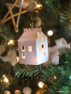 diy paper house christmas ornament lia griffith