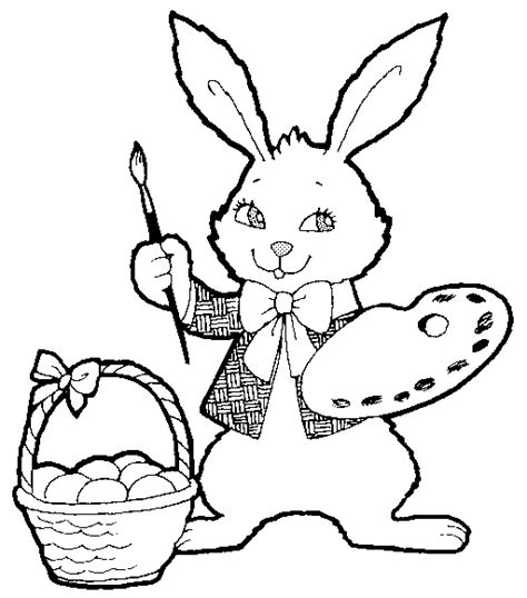 cute coloring pages for easter happy easter bunny coloring pages coloring part 7