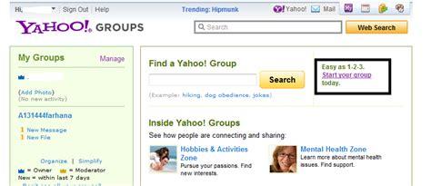 Bagaimana Cara Membuat Yahoo Groups | myvirtuallife dot com cara membuat yahoo group anda