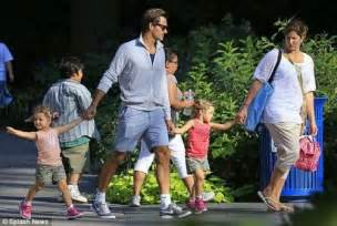 Galerry Roger and Mirka Federer with their twin daughters Myla Rose and