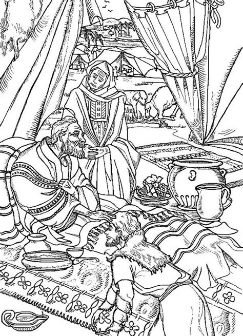 coloring page jacob and esau free coloring pages jacob and esau coloring home