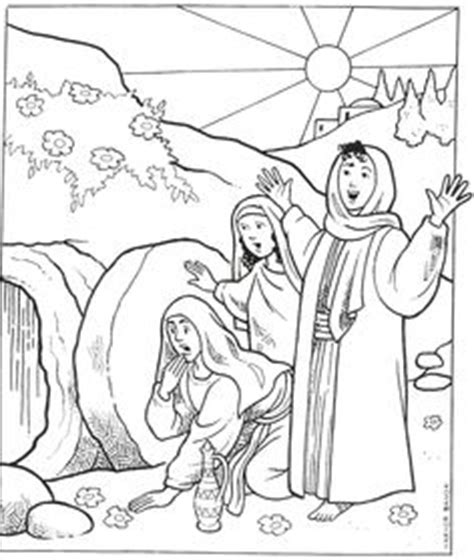 coloring page of jesus tomb jesus appears to mary magdalene after resurrection