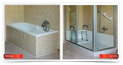 doccia nella vasca da bagno trasformazione vasca in doccia tecnobad
