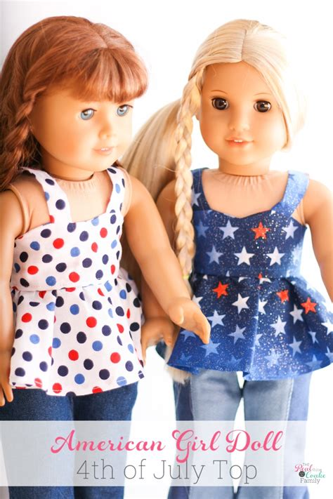 clothes pattern for dolls american girl doll 4th of july top free doll clothes pattern