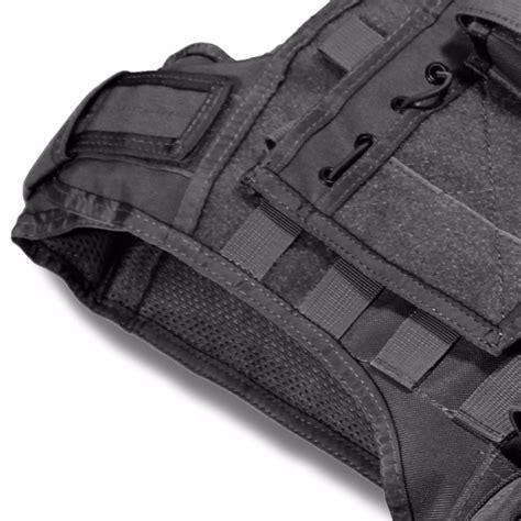 gilet porte plaques modulaire bulldog tactical noir