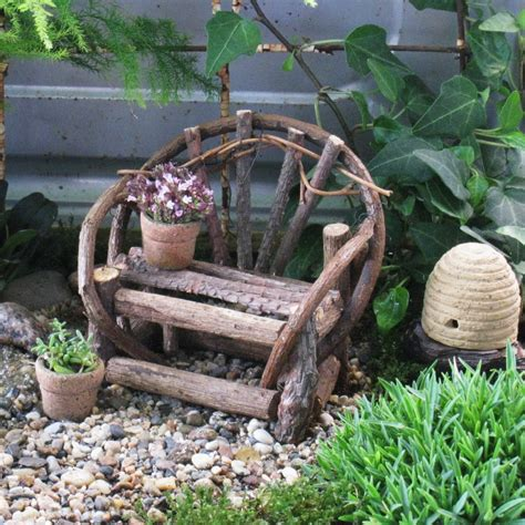 mini garden bench willow bench miniature garden terrarium dollhouse