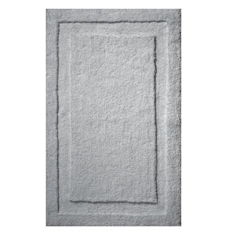 rug spa interdesign 34 in x 21 in spa bath rug in gray 17058 the home depot