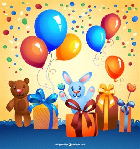 imagenes infantiles vectorizadas gratis tarjeta de cumplea 241 os con dibujos animados descargar