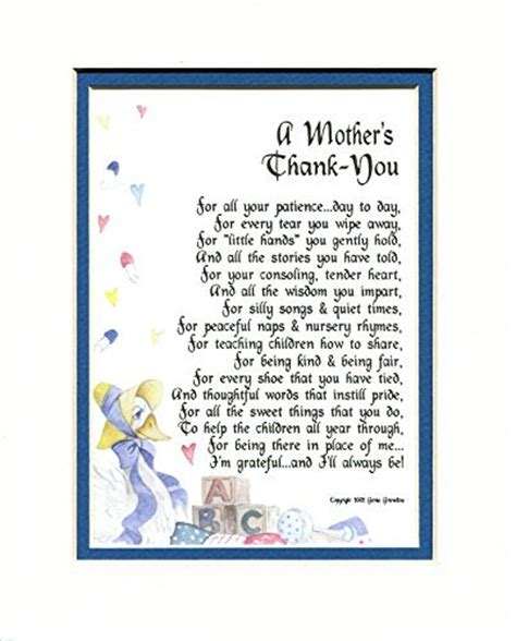 Thank You Letter To Nursery Gifts
