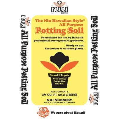 niu hawaiian style 0 75 cu ft potting soil 658552 the