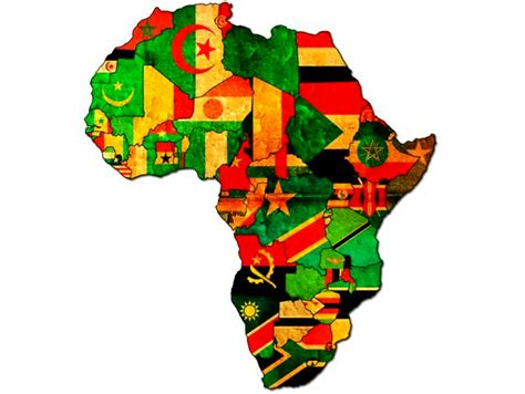 africa map flags africa map with country flags shows where is republic of