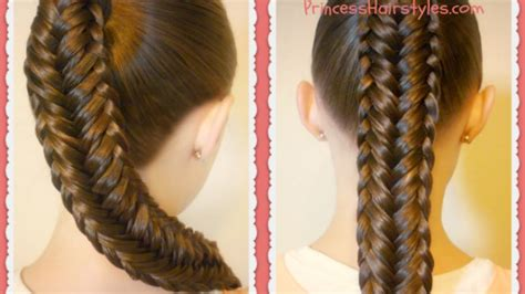 twisted edge fishtail braid hair tutorial