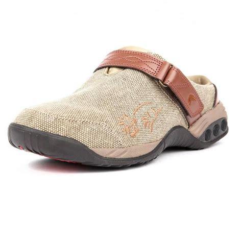 womens denim arch support clog slip  austin therafit shoe